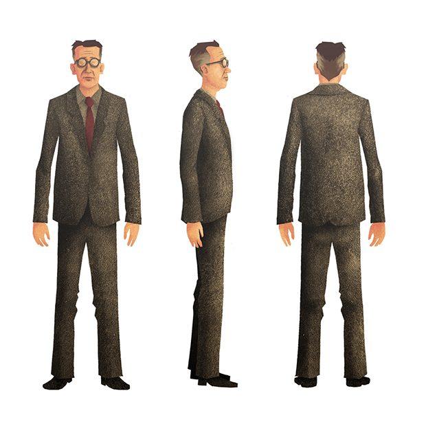 Toen Ik Overstak - Character design (Mr Van Dalen)